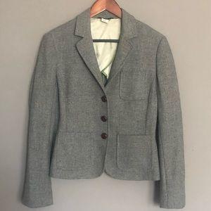 J. Crew gray wool schoolboy blazer